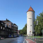 Der Buddenturm, der letzte erhaltene Turm der alten Stadtbefestigung.