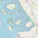 Nordfriesland heute. Östlich von Pellworm die Rinne der Norderhever. Bild: OpenStreetMap
