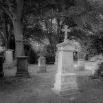 Ganz klassisch: ein alter, aufgelassener Friedhof.