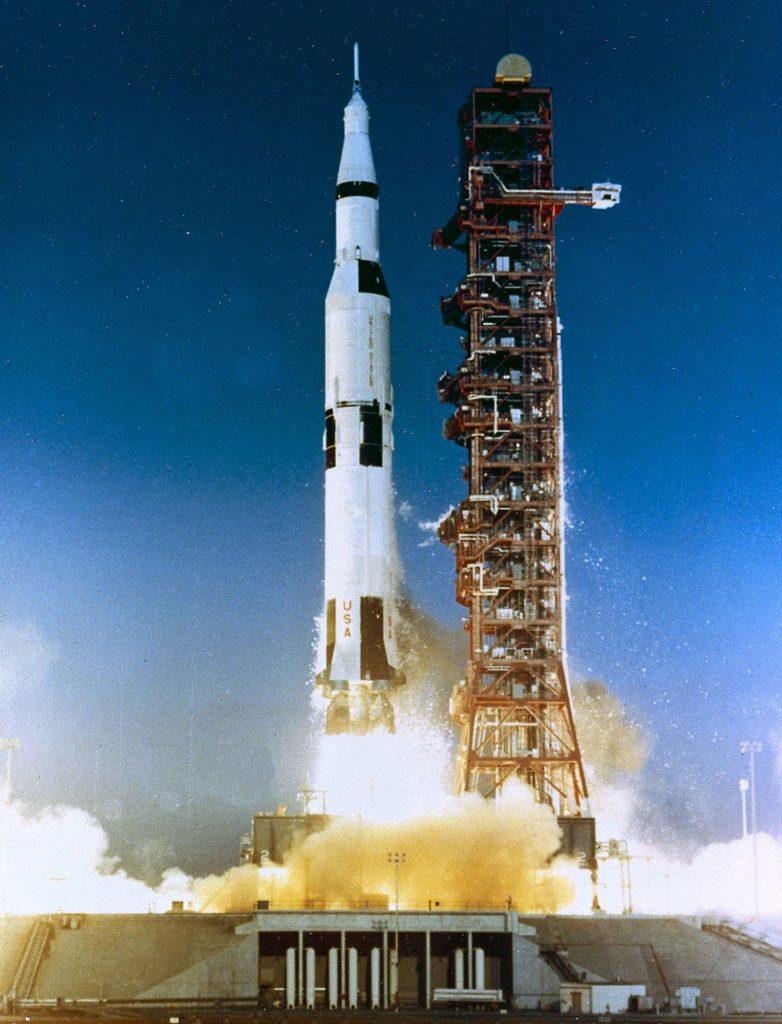 Die Saturn-V-Rakete. Foto: LWL