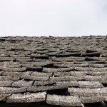 Schindelstudie. Detailansicht eines Daches.